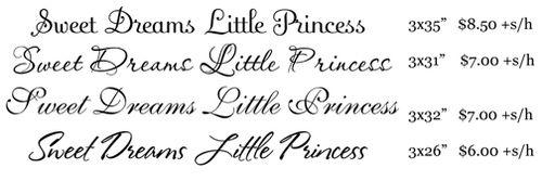 Sweet dreams little princess sm