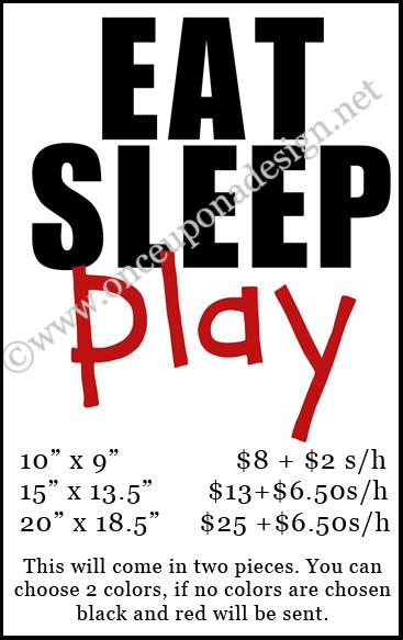 Eat sleep play price