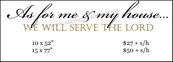 As for me serve