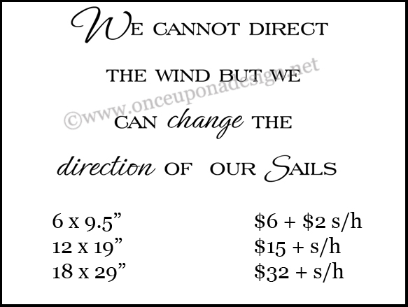 Direction of our sails blog